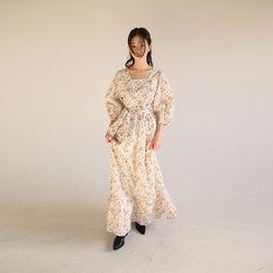square floral cotton maxi dress