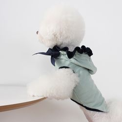 [T.프릴리본후드]frill ribbon hood T Navy