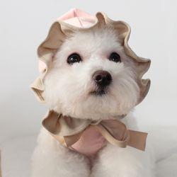 [T.프릴리본후드]frill ribbon hood T Pink