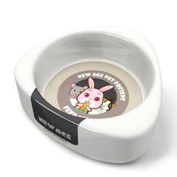 NEW AGE 햄스터 토끼 삼각 먹이그릇 대 하얀 (NA-083)