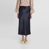 banding silky flare long skirt (2colors)