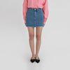 daily natural rolling denim mini skirt (2colors)