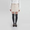 daily natural cutting cotton mini skirt (3colors)