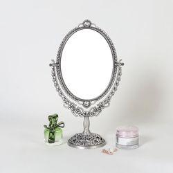 엔틱메탈 스텐딩 매화 화장거울 스몰-3색상
