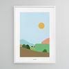 유니크 인테리어 디자인 포스터 M 조용한 풍경 A3(중형)