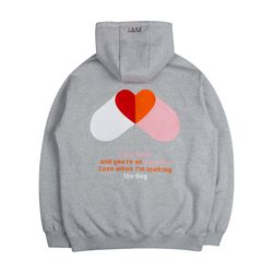 LAMC PILL HEART HOODY (GRAY)