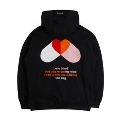 LAMC PILL HEART HOODY (BLACK)