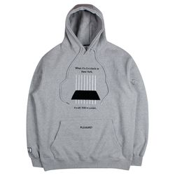 LAMC NEW YORK LINE HOODY (GRAY)
