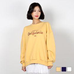 2432 데스티니 자수 맨투맨 티셔츠 (3colors)