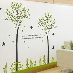 ic564-봄날에나무두그루그래픽스티커