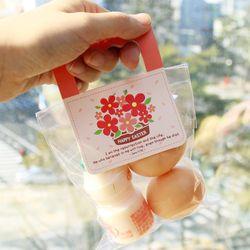부활절 달걀 2구 사각손잡이 20개(비닐포함) -꽃바구니