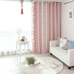 북유럽 핑크 암막커튼(민자디자인)