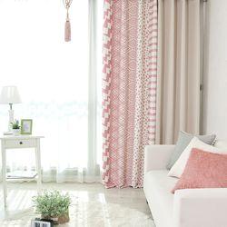 북유럽 핑크 베이지 암막커튼(아일렛 디자인)