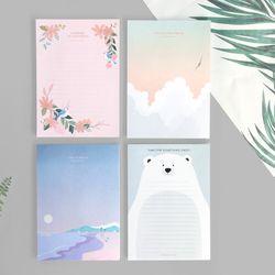 아이코닉 라곰 노트패드(메모지)