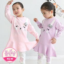 레빗러블리세트 핑크 유아상하복