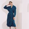 WRAP DRAPE DRESS OCEAN BLUE