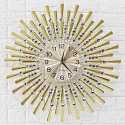 무소음 철제벽시계 골드&큐빅 G06 인테리어벽시계