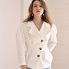 DRAPE JACKET BLOUSE WHITE