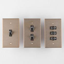 VONO 빈티지 알루미늄 토글스위치 3종 (골드)
