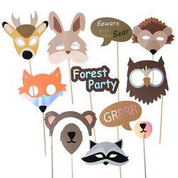 [1만원 이상 구매시 사은품] 숲 속 파티에 초대된 동물들 파티 프롭스 set