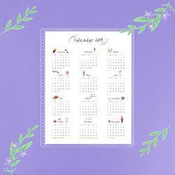 아이스타일 색연필 달력 스케줄보드(Color Pencil Calendar)
