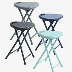철재 폴딩 삼각 의자
