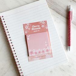 벚꽃 네모 메모잇