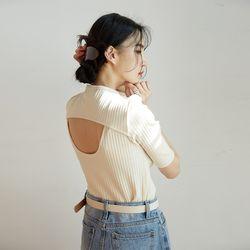 paper back point half knit