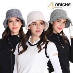 사각사각 체크 벙거지 골프 모자