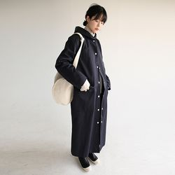 hoody snap trench coat (2colors)