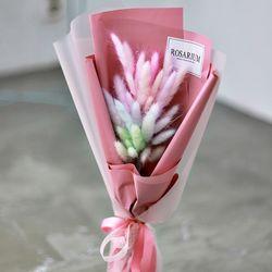 레인보우 라그라스 꽃다발