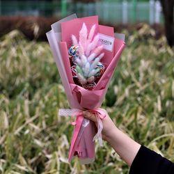 레인보우 라그라스 꽃다발 +사탕2