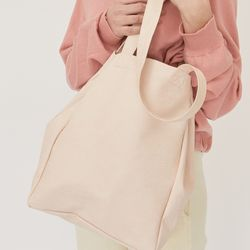 PULPY LEATHER BAG (BABY PINK)