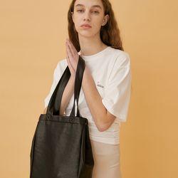 PULPY LEATHER BAG (BLACK)