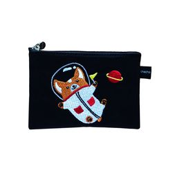 space corgi card pouch