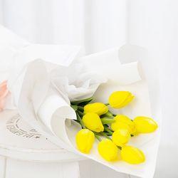 튤립 조화 꽃다발(옐로우)