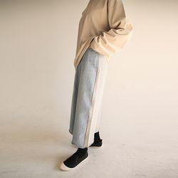 half and half long skirt
