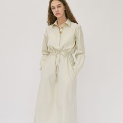 BASIC COLLAR LONG ONEPIECE (IVORY)