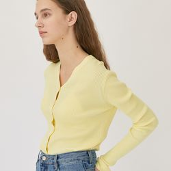 SPRING BASIC CARDIGAN (LEMON)