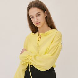 RUFFLE OFF SHOULDER BLOUSE (LEMON)