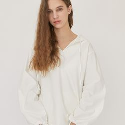 CLEAN HOODY BLOUSE (WHITE)