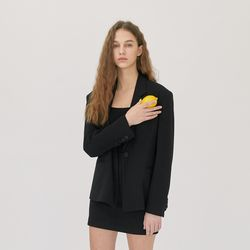 CLASSIC ONE BUTTON JACKET (BLACK)