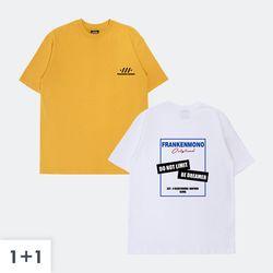 [1+1(선택가능)] 프랑켄모노 + 프랑켄리미트 반팔 티셔츠