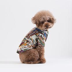 타이거 프린트 셔츠 (카키)