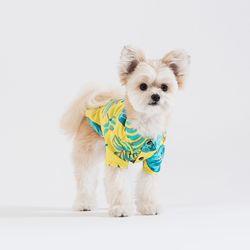 보태니컬 프린트 셔츠 (옐로우)