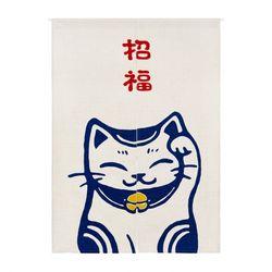 재패니즈 네코 고양이의 인사 출입구 노렌 85cm-120cm