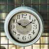 R5276 심플 스카이블루 철재벽시계
