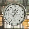R5280 빈티지 실버원형 철재벽시계