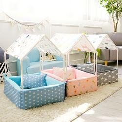 강아지 집 텐트 하우스 방석