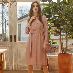 POCKET SHIRTS ONE-PIECE PINK